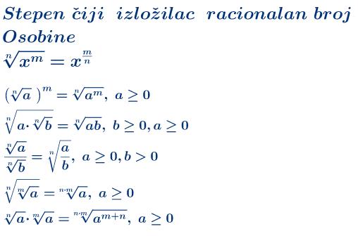 Kvadratni koren-pravila
